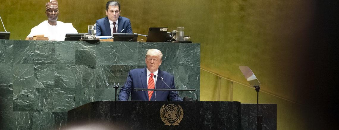 트럼프 대통령, 제74차 유엔총회에서 연설