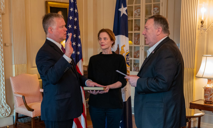 U.S. Special Representative for North Korea Stephen Biegun was officially sworn in as the new Deputy Secretary for the Department of State.