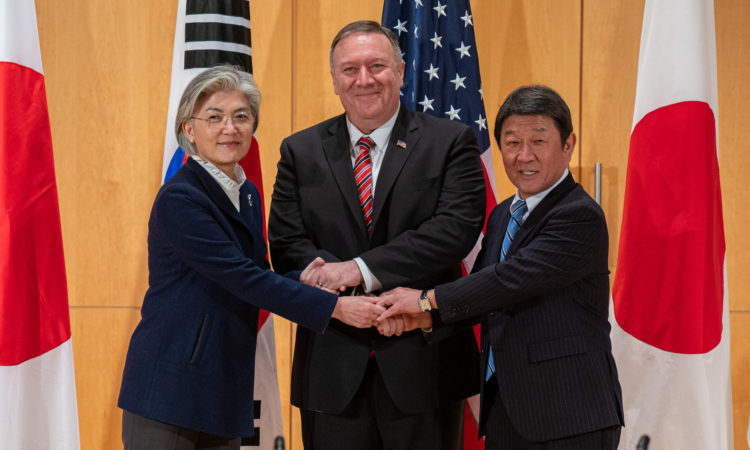 Secretary Pompeo Meets with Japanese Foreign Minister Toshimitsu Motegi and Republic of Korea Foreign Minister Kang Kyung-wha