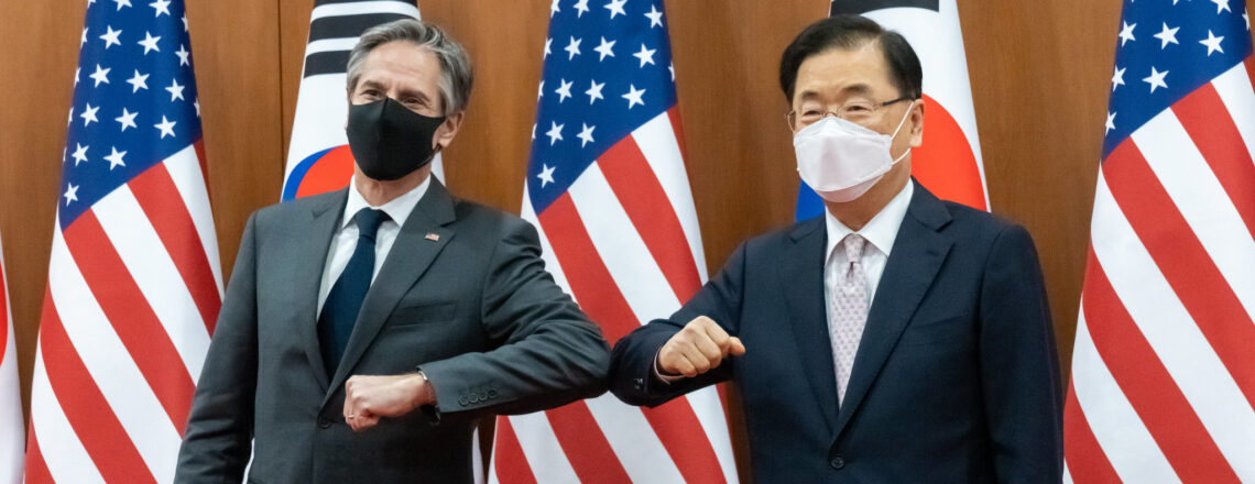 블링컨 국무장관, 정의용 외교장관과 회동