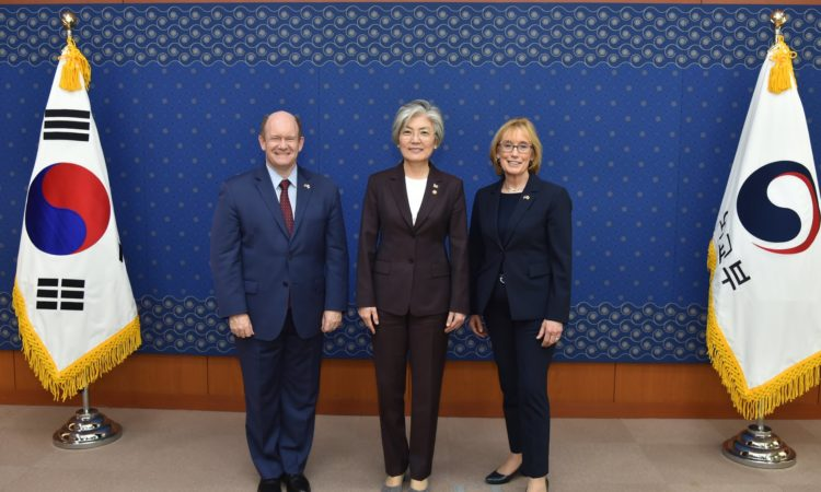 U.S. Senator Coons and Senator Hassan Meet South Korean Foreign Minister Kang