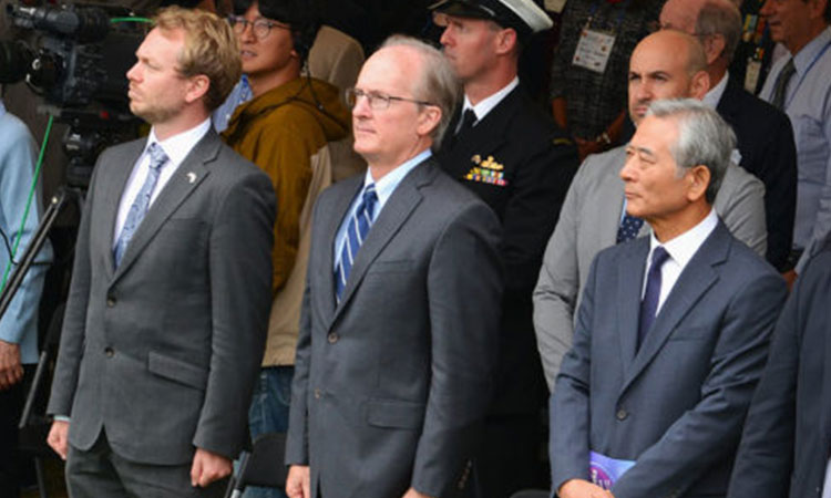 Deputy Chief of Mission Rob Rapson Attends the 74th UN Day Ceremony