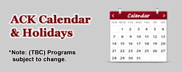 ACK Calendar