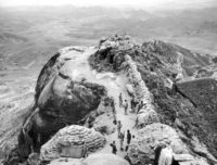 South Korean troops at a mountain lookout post along the 38th parallel (© AP Images)