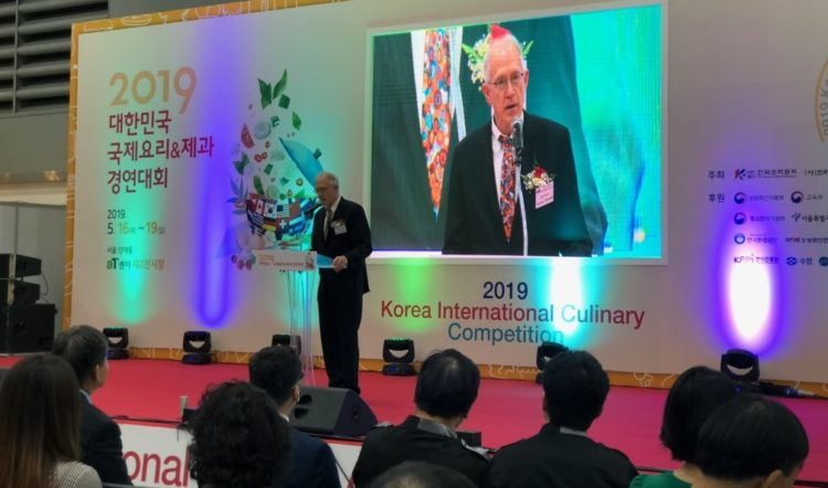 Minister-Counselor Verdonk speaks at the 2019 Korea International Culinary Competition