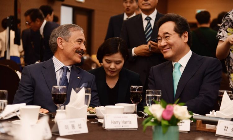 Ambassador Harry Harris Meets ROK Prime Minister Lee Nak-yeon at Korea-US Alliance Forum