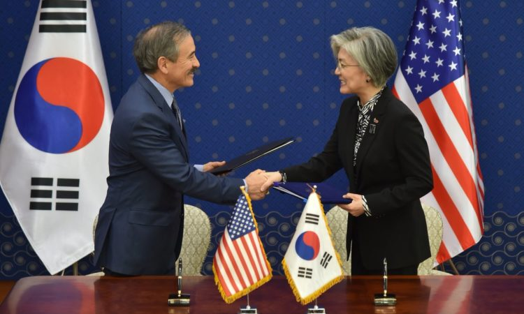 Ambassador Harris and Foreign Minister Kang Signs Special Measures Agreement