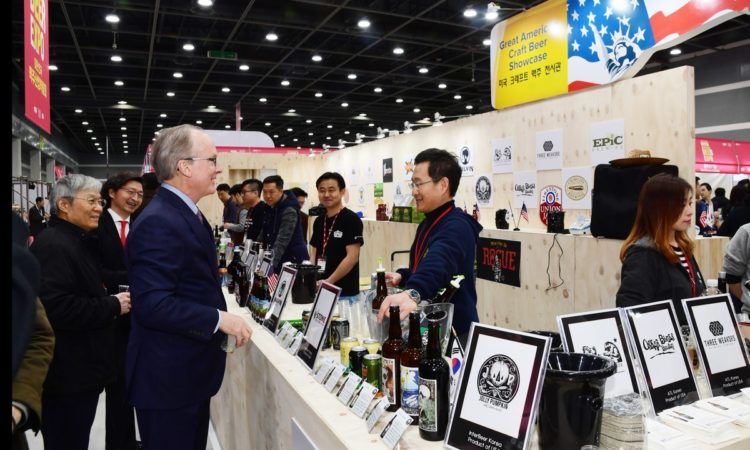 Deputy Chief of Mission Rob Rapson Supports U.S. Brewers at Korea International Beer Expo
