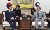 April 16, 2019 - Ambassador Harry Harris paid a courtesy call on new South Korean Unification Minister Kim Yeon-chul to discuss a wide array of Korean Peninsula issues.