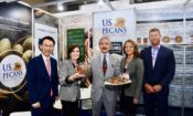 May 21, 2019 – Ambassador Harry Harris (center) attended the Seoul Food & Hotel Show 2019, sponsored by KOTRA (Korea Trade-investment Promotion Agency) and toured the USA pavilion. As Korea's largest food trade show, the USA pavilion had 76 booths and 45 exhibitors.