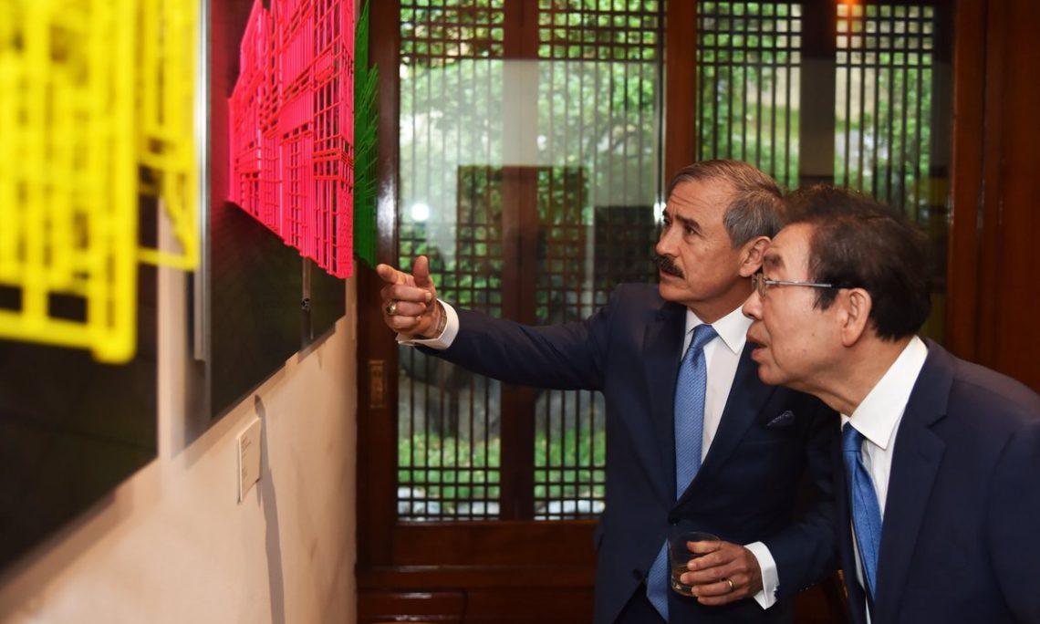 Ambassador Harry Harris Meets Seoul Mayor Park Won-soon