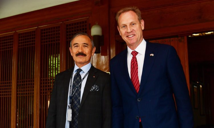 Ambassador Harry Harris Meets Acting U.S. Defense Secretary Patrick Shanahan