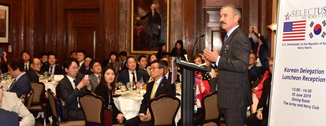 해리스 주한미국대사, 역대 최대 규모의 한국사절단을 이끌고 미국 투자정상회담에 참석