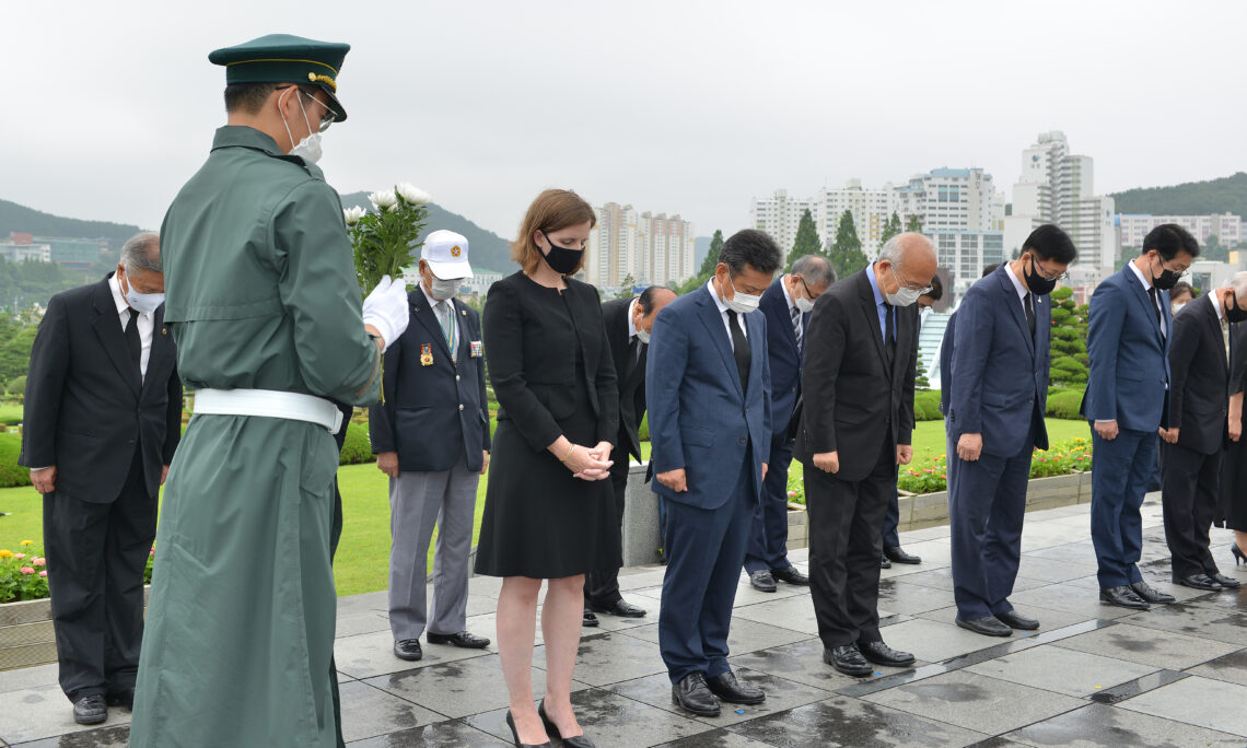 Acting Consul Dana M. Jea Honors the Sacrifices and Contributions of the UN Soldiers