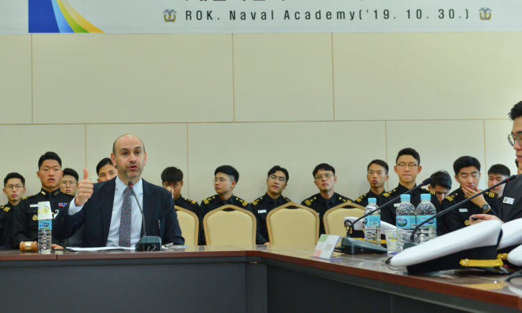 (Photo Gallery) Consul Presides Over Model Non-Proliferation Treaty Conference with ROK Navy Midshipmen