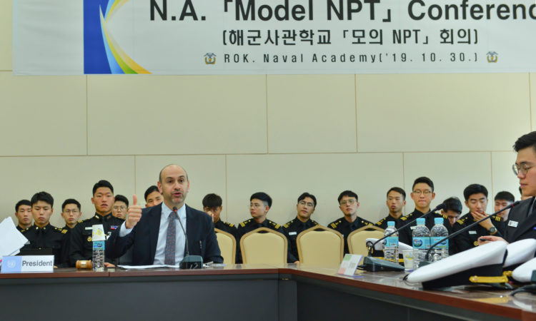 Consul Presides Over Model Non-Proliferation Treaty Conference with ROK Navy Midshipmen