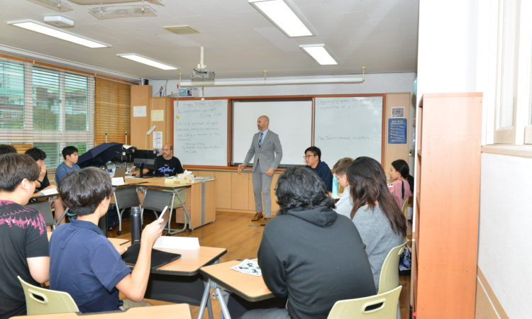 Consul Discusses Diplomacy With Busan Foreign School's Model United Nation (MUN) Class