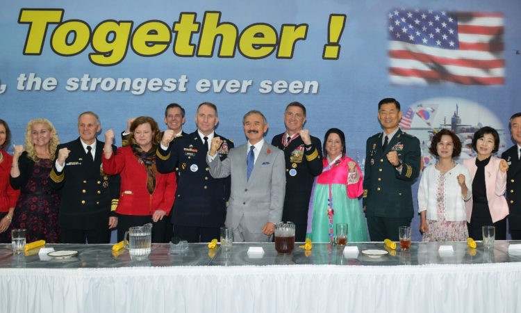 Ambassador Participates in the Change of Command Ceremony for U.S. Naval Forces, Korea