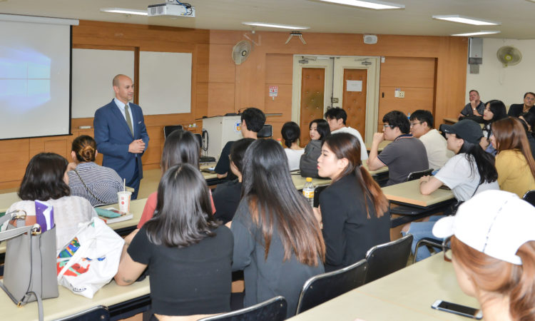 Consul Gives Special Lecture to Kyungsung University Overseas Employment Trainees
