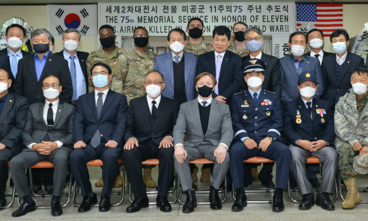 Consul Joins Namhae County Mayor in the 75th memorial service for an 11-person U.S. Army Air Corps Crew