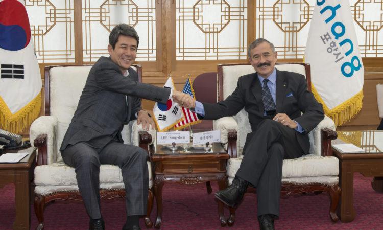 Ambassador Visits Pohang City
