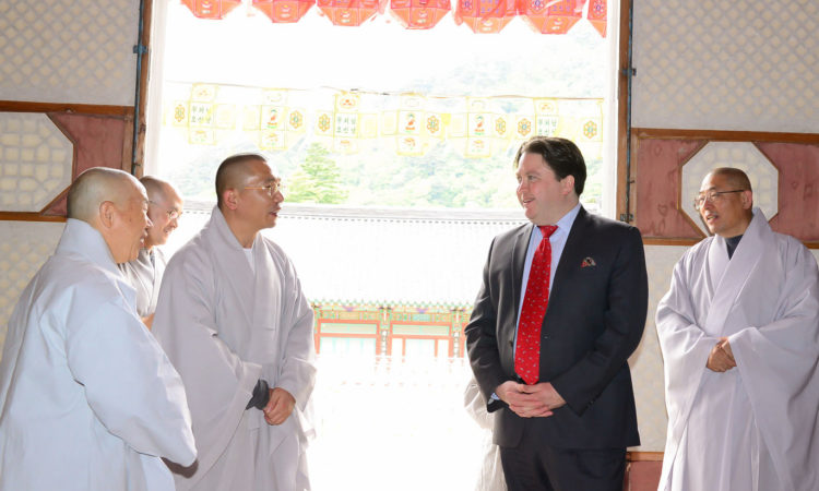 (Photo Gallery) CDA Marc Knapper Visits Haein-sa Buddhist Temple