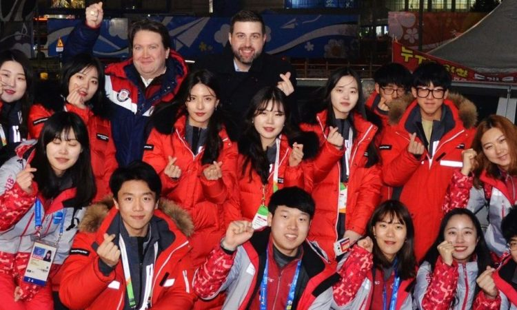 February 13, 2018 - Chargé d'Affaires Marc Knapper treated 15 Olympic youth volunteers in PyeongChang to dinner, expressing his appreciation for all their hard work at 2018 PyeongChang Winter Olympic Games.