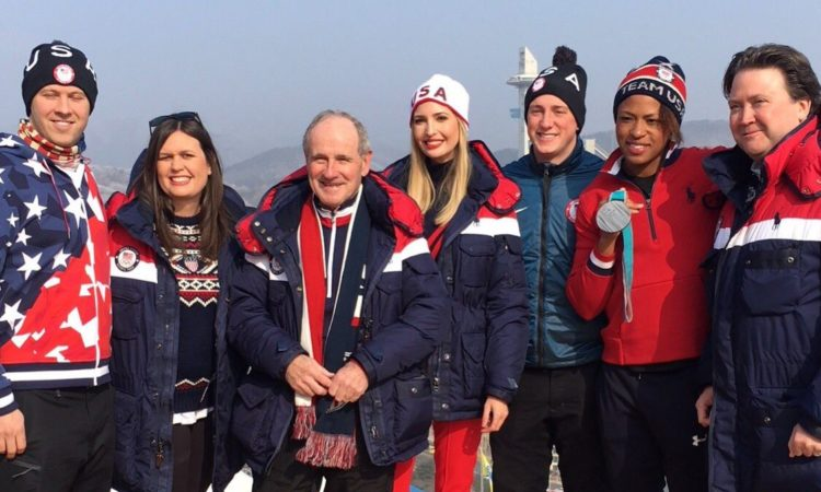 Assistant Ivanka Trump Watches USA Men's 4-man Bobsleigh Finals