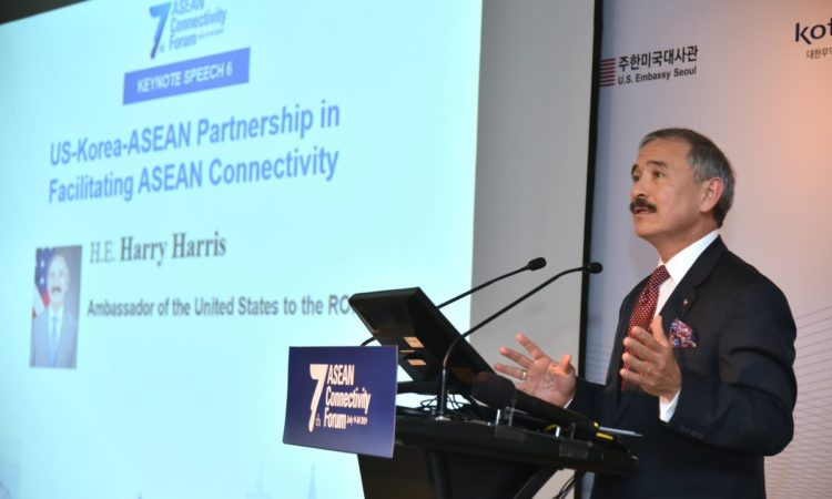Ambassador Harry Harris Delivers Keynote at ASEAN Connectivity Forum
