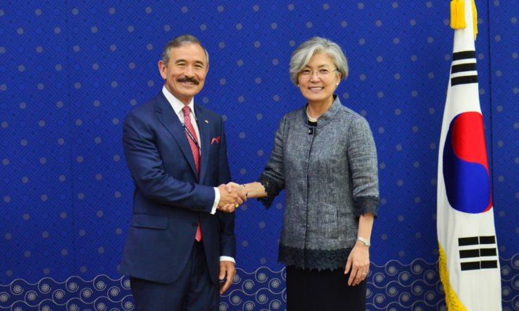 Ambassador Harry Harris Meets ROK Foreign Minister Kang Kyung-wha