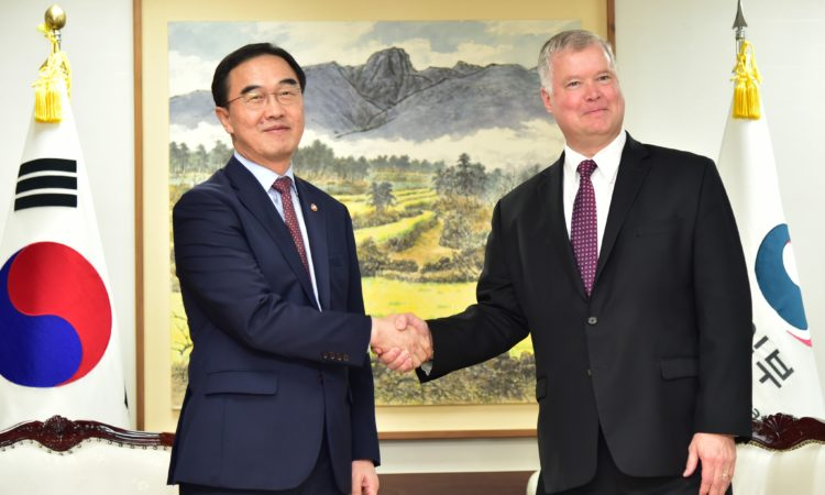 Special Representative for North Korea Stephen Biegun Meets ROK Unification Minister