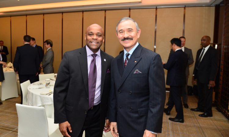 October 16, 2018 – Ambassador Harry Harris gave welcoming remarks at a luncheon organized by the Denver City for Mayor Michael Hancock, who is visiting Korea to strengthen bonds between Denver and Seoul.