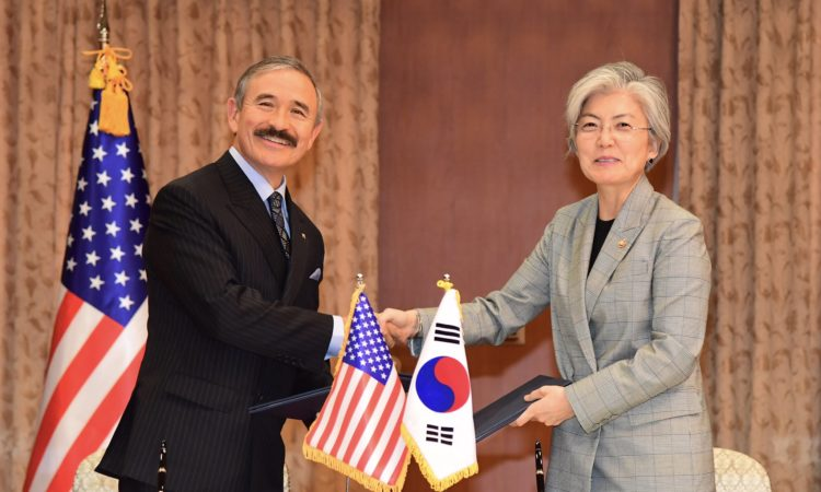 October 22, 2018 – Ambassador Harry Harris and Foreign Minister Kang Kyung-Wha signed a MOU for the renewal of the WEST (Work, English, Study, Travel) exchange program, a true testament of the strong people-to-people ties between the U.S. and ROK.