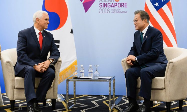 U.S. Vice President Mike Pence Meets ROK President Moon Jae-in