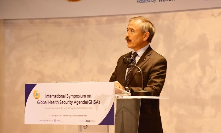 August 27, 2019 - Ambassador Harry Harris gave opening remarks at the KOICA International Global Health Security Agenda symposium and emphasized the importance of working together to address these global challenges.