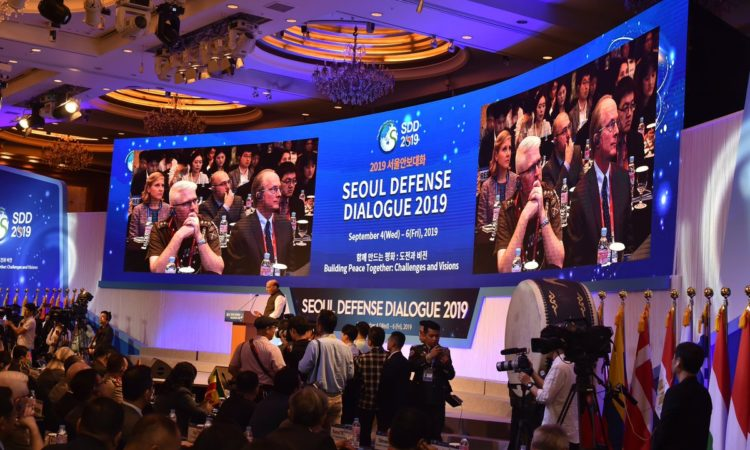 "September 5, 2019 - Chargé d'Affaires Rob Rapson participated in the opening ceremony of the Seoul Defense Dialogue 2019 ""Building Peace Together: Challenges and Visions."""