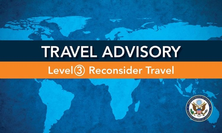 Global Level 3 Health Advisory – Reconsider Travel