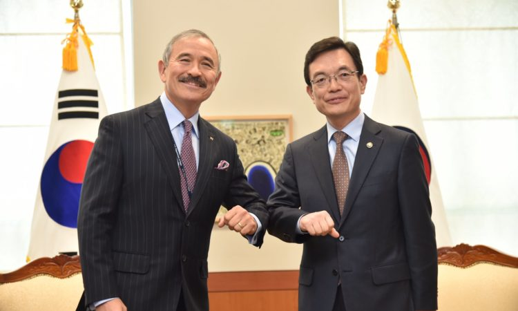 Ambassador Harry Harris Discusses COVID-19 with ROK Vice Foreign Minister Cho Sei-young