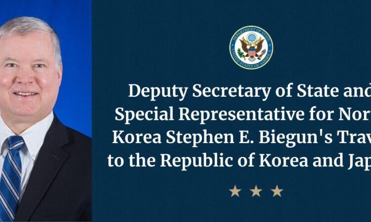 Deputy Secretary and Special Representative for North Korea Biegun Travel to the ROK and Japan