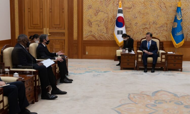 Secretary Blinken and Secretary Austin's Meeting with Republic of Korea President Moon