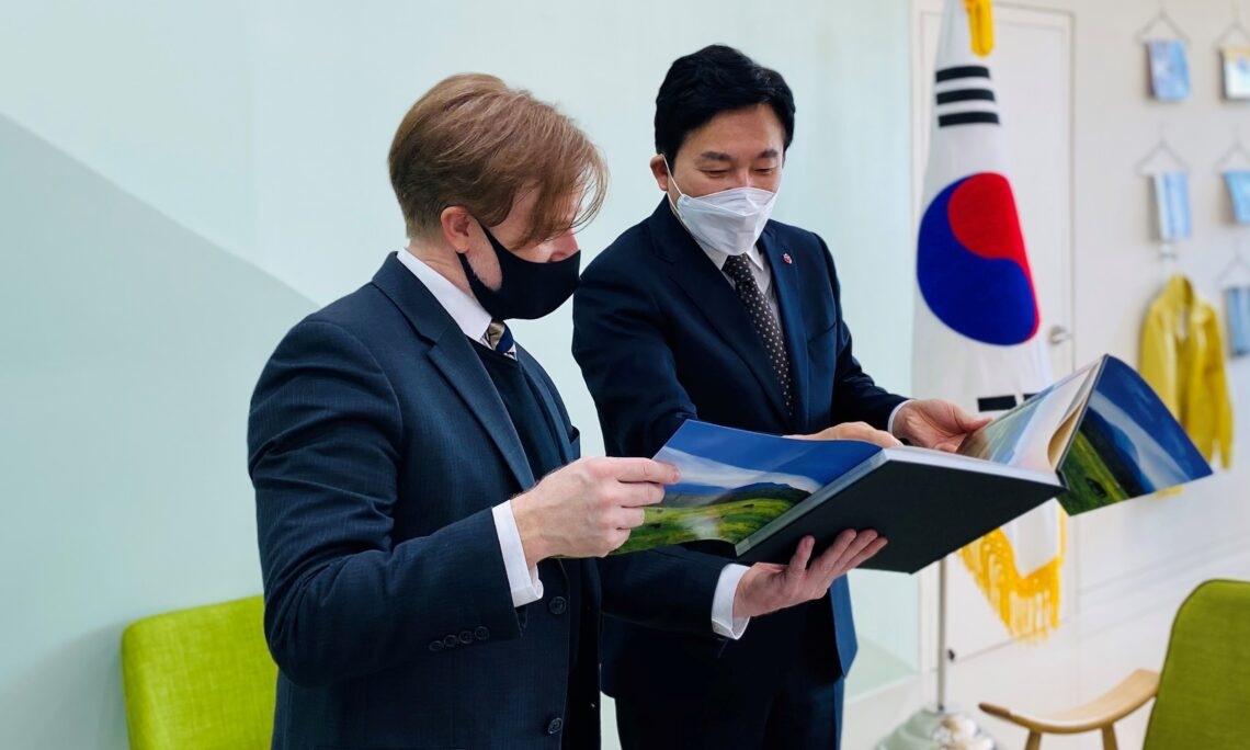 Discussing Local Economy and COVID Measures with Jeju Governor