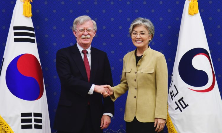 U.S. National Security Advisor John Bolton Meets ROK Foreign Minister Kang Kyung-wha
