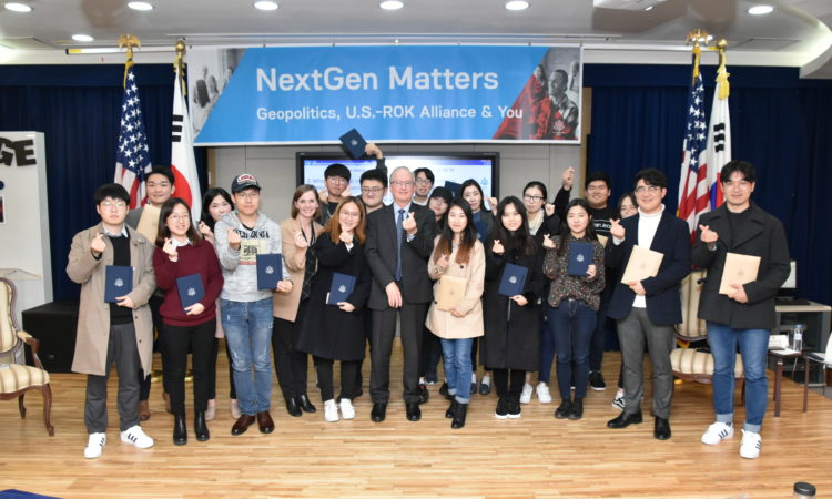 "Deputy Chief of Mission Rob Rapson Meets University Students at ""NextGen Matter"" Program"