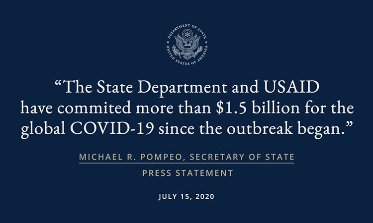 New Humanitarian and Health Assistance Bolsters U.S. Leadership in Response to COVID-19
