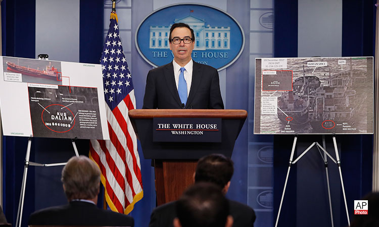 Press Briefing by Treasury Secretary Steven Mnuchin on North Korea Sanctions