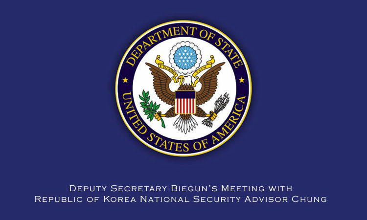 Deputy Secretary Biegun's Meeting with Republic of Korea National Security Advisor Chung