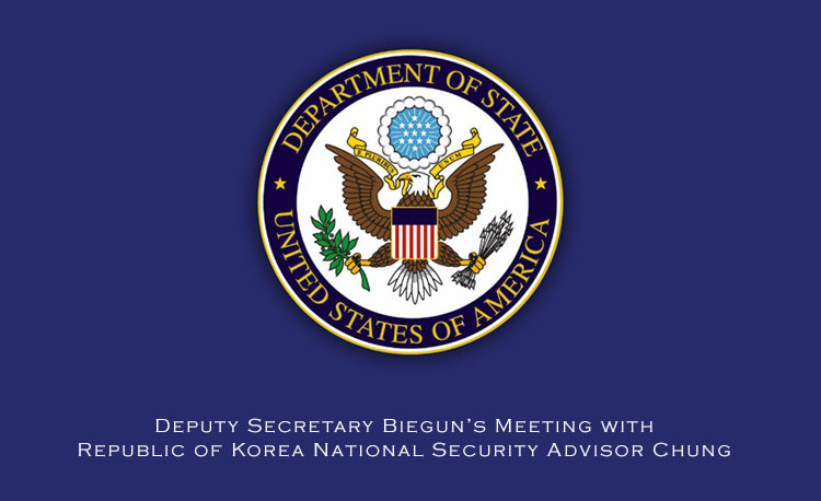 Deputy Secretary Biegun's Meeting with Republic of Korea National Security Advisor Chung