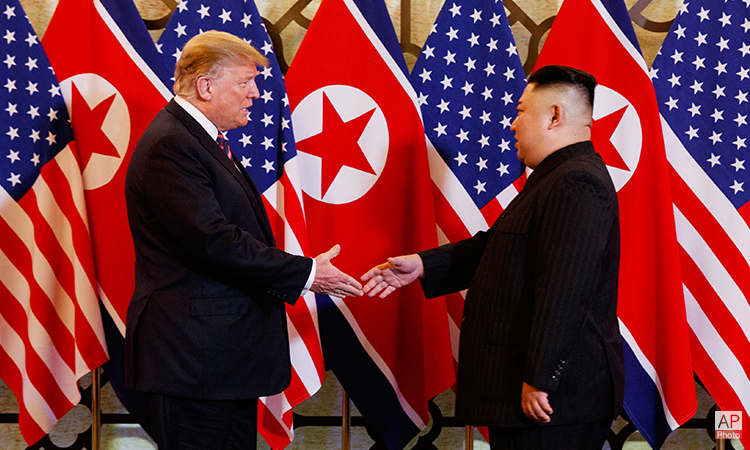 U. S. President Donald Trump Meets North Korean Chairman Kim Jong Un