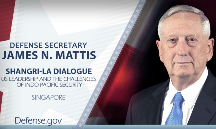 Remarks by Secretary Mattis at Plenary Session of the 2018 Shangri-La Dialogue (Excerpts)