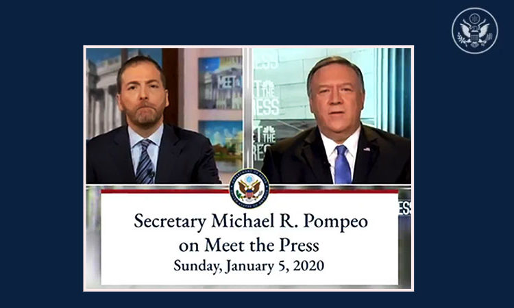 Secretary Michael R. Pompeo With Chuck Todd of NBC Meet the Press